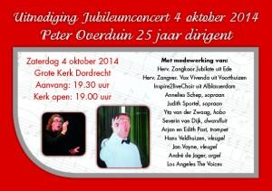 uitnodiging Jubileumconcert kaart